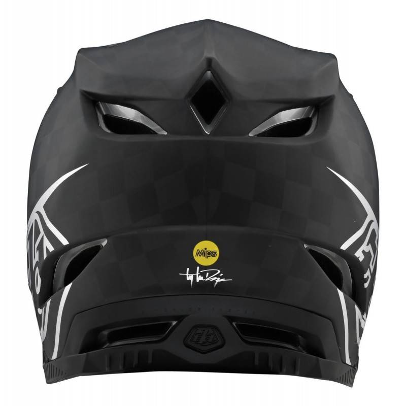 Troy Lee Designs D4 TeXtreme AS MIPS Carbon Helmet Stealth Black / Silver