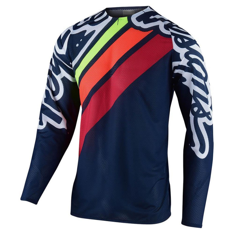 Troy Lee Designs Mountain Bike Ruckus Jersey; Bolt Red Black Size MD