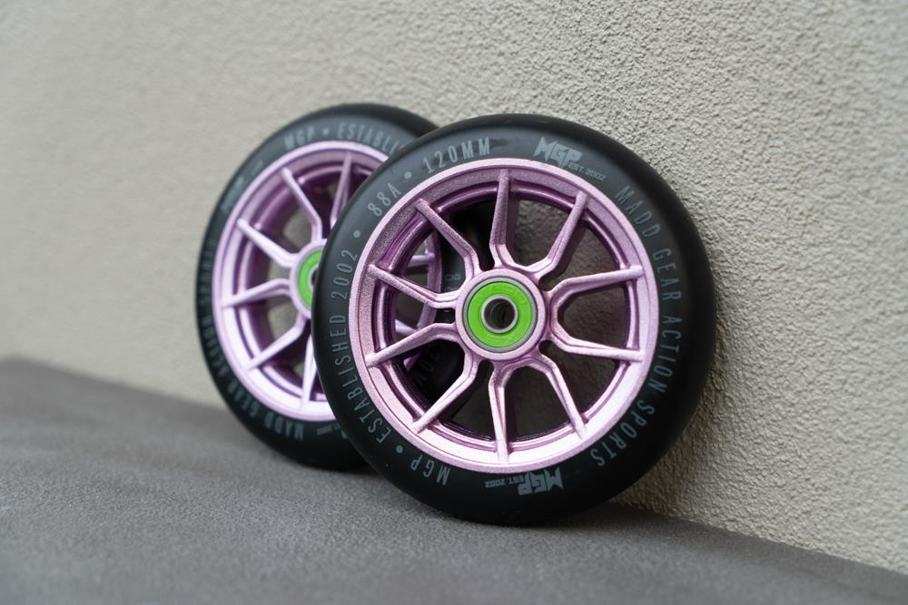 MGP 120MM Syndicate Scooter Wheel Purple 2 Pack
