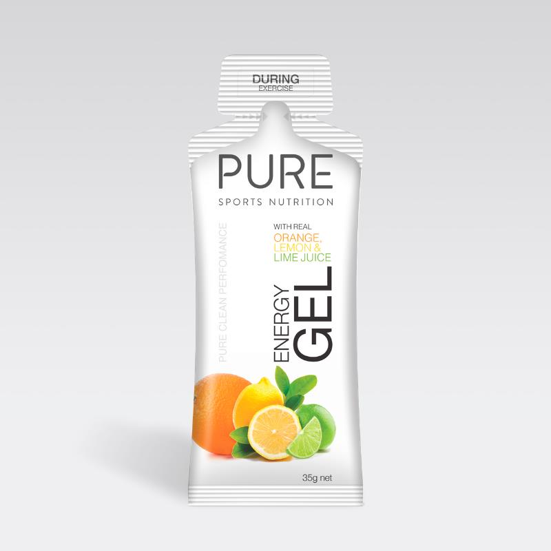 Pure Energy Gels 35g Orange, Lemon & Lime