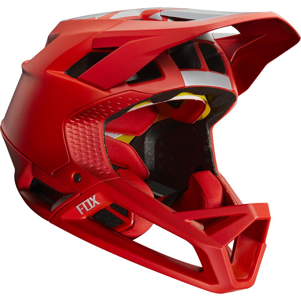Fox Proframe MIPS Helmet Wide Open Bright Red