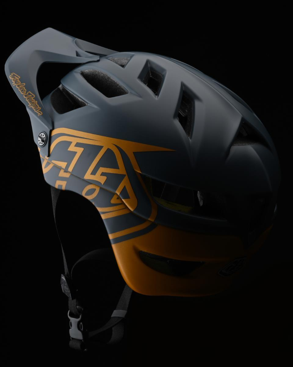 Troy Lee Designs A1 AS MIPS Classic Helmet Grey / Gold