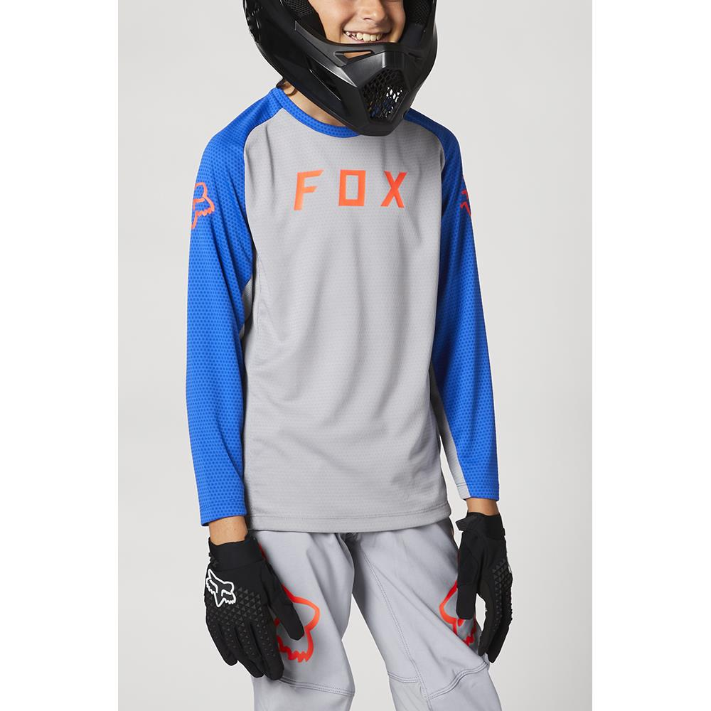 FOX Youth Defend LS Jersey Steel Grey