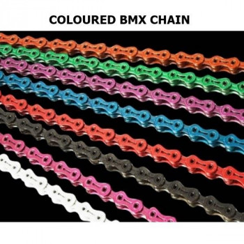 CHAIN - BMX COLOURED SINGLE SPEED CHAIN - 1/2 X 1/