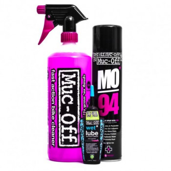 Muc-Off Wash Protect & Wet Lube Kit