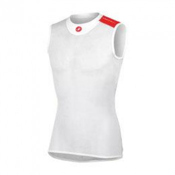 Castelli Men's Core Mesh Sleeveless Jersey White