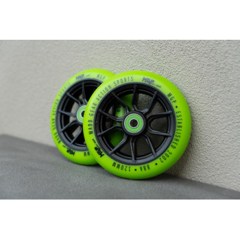 MGP 120mm Syndicate Scooter Wheel Green 2 Pack