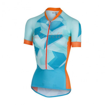 Castelli Women's Climbers Cycle Jersey Blue/Orange