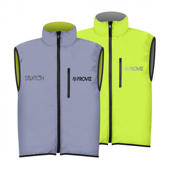 Proviz Men's Switch Gilet Vest Reflect360 Hi Viz Yellow
