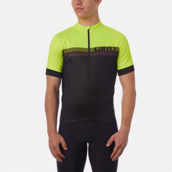 Giro Men's Chrono Sport Jersey Yellow Stave