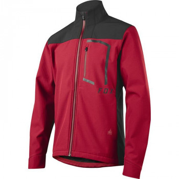 Fox Men's Attack Fire Softshell Jacket Dark Red