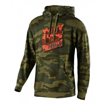 Troy Lee Designs Men's Block Party Pullover Forest Camo