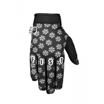 Fist Frosty Fingers Cold Weather MTB Gloves Black Snowflake