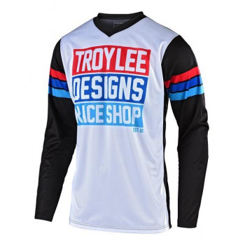 Troy Lee Designs Youth GP Carlsbad  Jersey White / Black