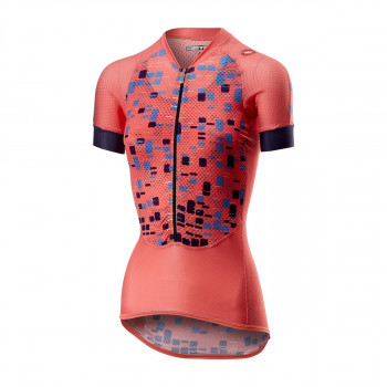 Castelli Women's Climbers Cycle Jersey Salmon
