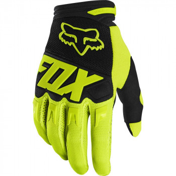 Fox Youth Dirtpaw Gloves Fluro Yellow