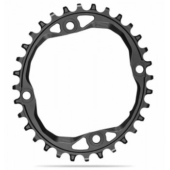 absoluteBlack 104x4 BCD Oval Chainring For HG+ 12 Speed
