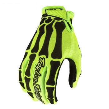 Troy Lee Designs Air Glove Skully Yellow/Black