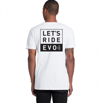 Evo Cycles Men's Let's Ride Tee White