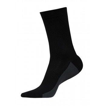 Funkier Arezzo-L Long Seamless Socks Black & Gray
