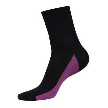 Funkier Arezzo Short Seamless Socks w/ Cushion Black & Pink