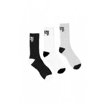ilabb Capsize Sport Socks Three Pack Black/Grey/White