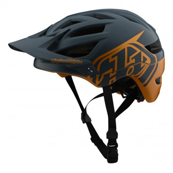 Troy Lee Designs Youth A1 AS MIPS Classic Helmet Grey / Gold