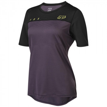 Fox Womens Flexair SS Jersey Dark Purple