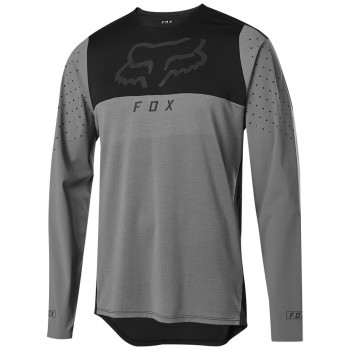 Fox Men's Flexair Delta LS Jersey Pewter Black