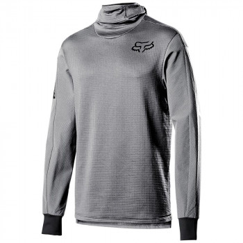 Fox Men's Defend Thermo Hooded Jersey Steel Grey