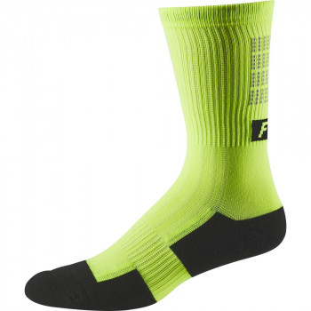 Fox 8 Inch Trail Cushion Socks Lunar Day Glo Yellow