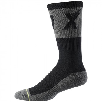 Fox 8 Inch Trail Cushion Socks Wurd Black