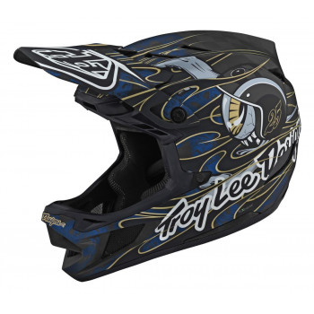 Troy Lee Designs D4 TeXtreme AS MIPS Carbon Helmet Eyeball Blue