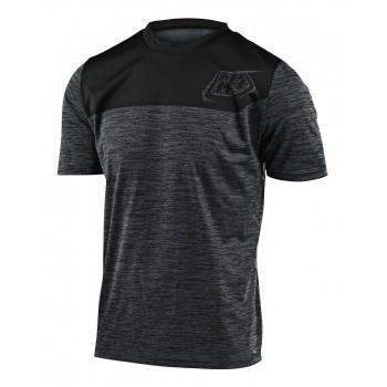 Troy Lee Designs Men's Flowline SS Jersey Shield Heather Black / Black