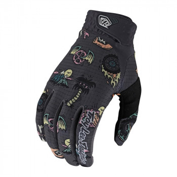 Troy Lee Designs Artist Series Air Gloves Elemetal Charcoal