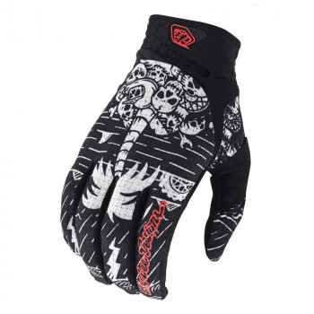 Troy Lee Designs Artist Series Air Gloves Boneyard Black