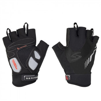 Serfas Men's RX-8 Fingerless Gloves Black