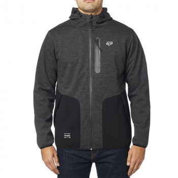 Fox Men's Barricade Softshell Fleece Hoodie Heather Black