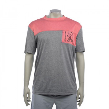Chromag Men's Rove SS Jersey Charcoal/Red Heather