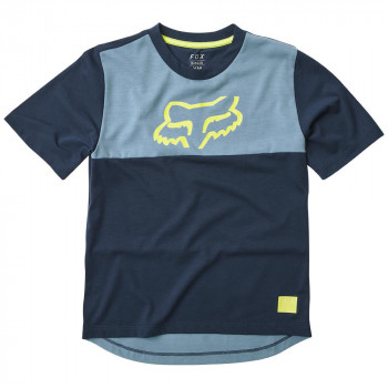 Fox Youth Ranger Dri-Release SS Jersey Navy