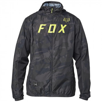 Fox Men's Moth Camo Windbreaker Jacket Black Camo
