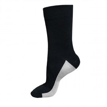 Funkier Arezzo Long Seamless Socks Black & White
