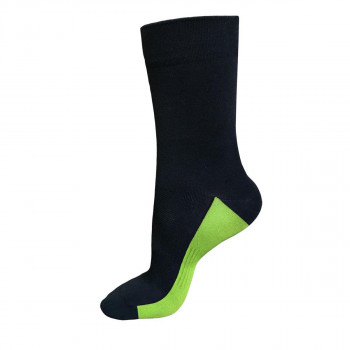 Funkier Arezzo Long Seamless Socks Black & Yellow