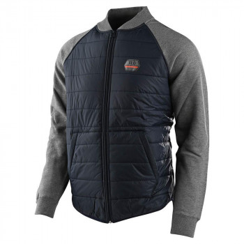 Troy Lee Designs Factory Quilted Bomber Zip Up Navy