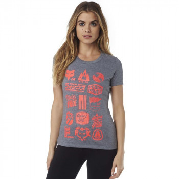 Fox Women's Mountain Division Tech Tee Heather Pewter