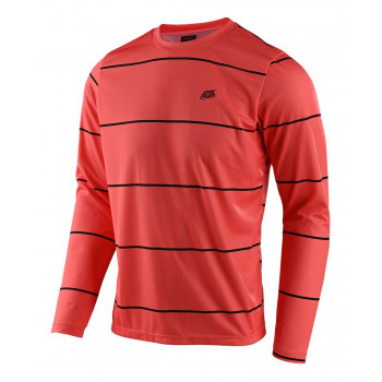 Troy Lee Designs Men's Flowline LS Jersey Stacked Coral