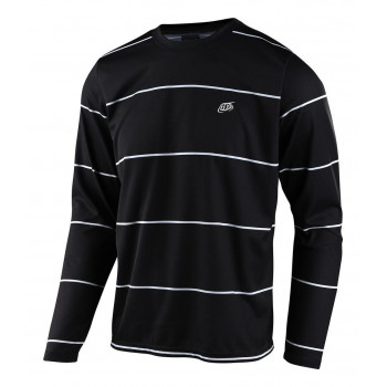 Troy Lee Designs Men's Flowline LS Jersey Stacked Black