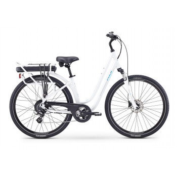 Fuji E-Crosstown Low Step Electric Bike Pearl White