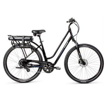 Fuji E-Crosstown Low Step Electric Bike Pearl Black